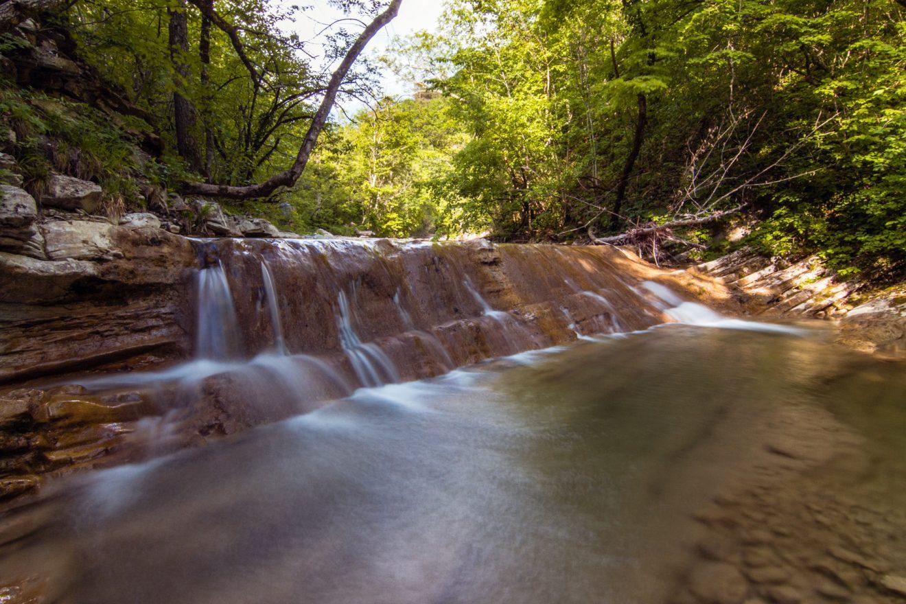 Водопады реки Жане летом