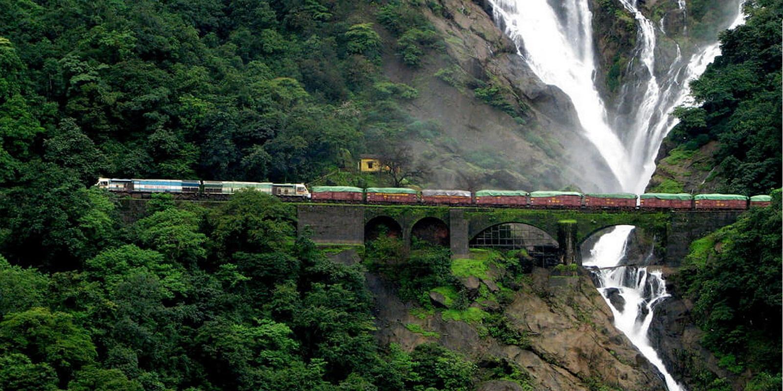 Водопад Дудхсагар мост