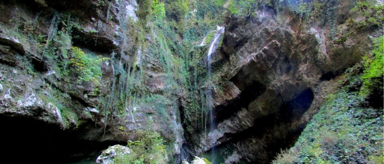 водопад пасть дракона вид