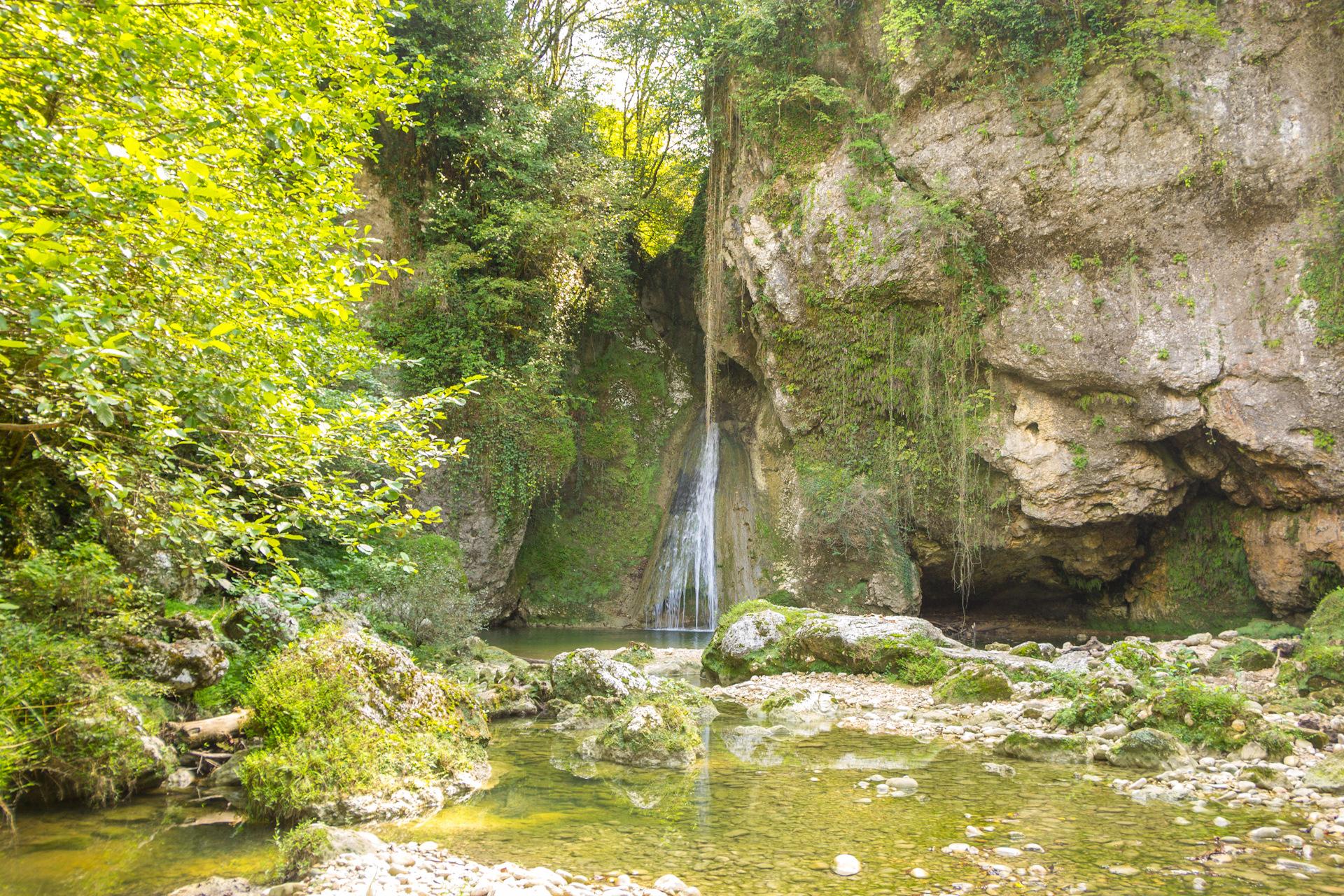 гупский водопад в абхазии
