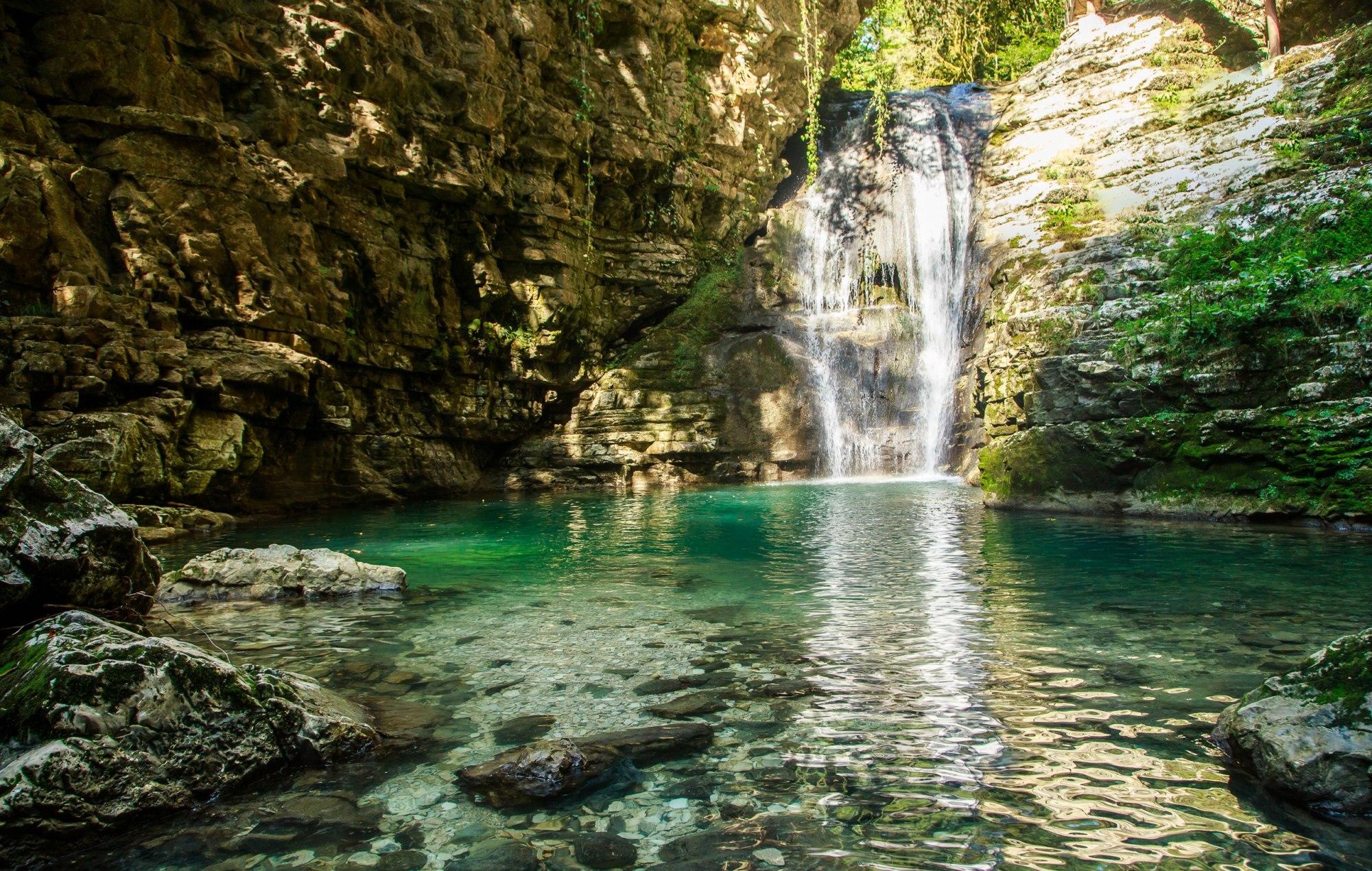 Ольгинский водопад в абхазии