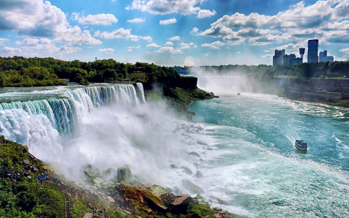 Ниагарский водопад сбоку