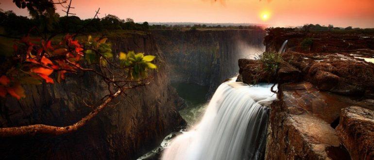 Водопады Африки Виктория закат