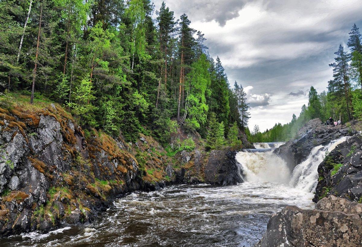 картинка водопада кивач это связь между