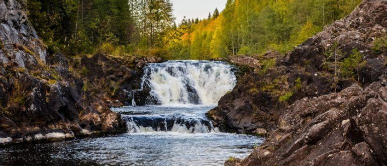 Водопады Карелии Кивач