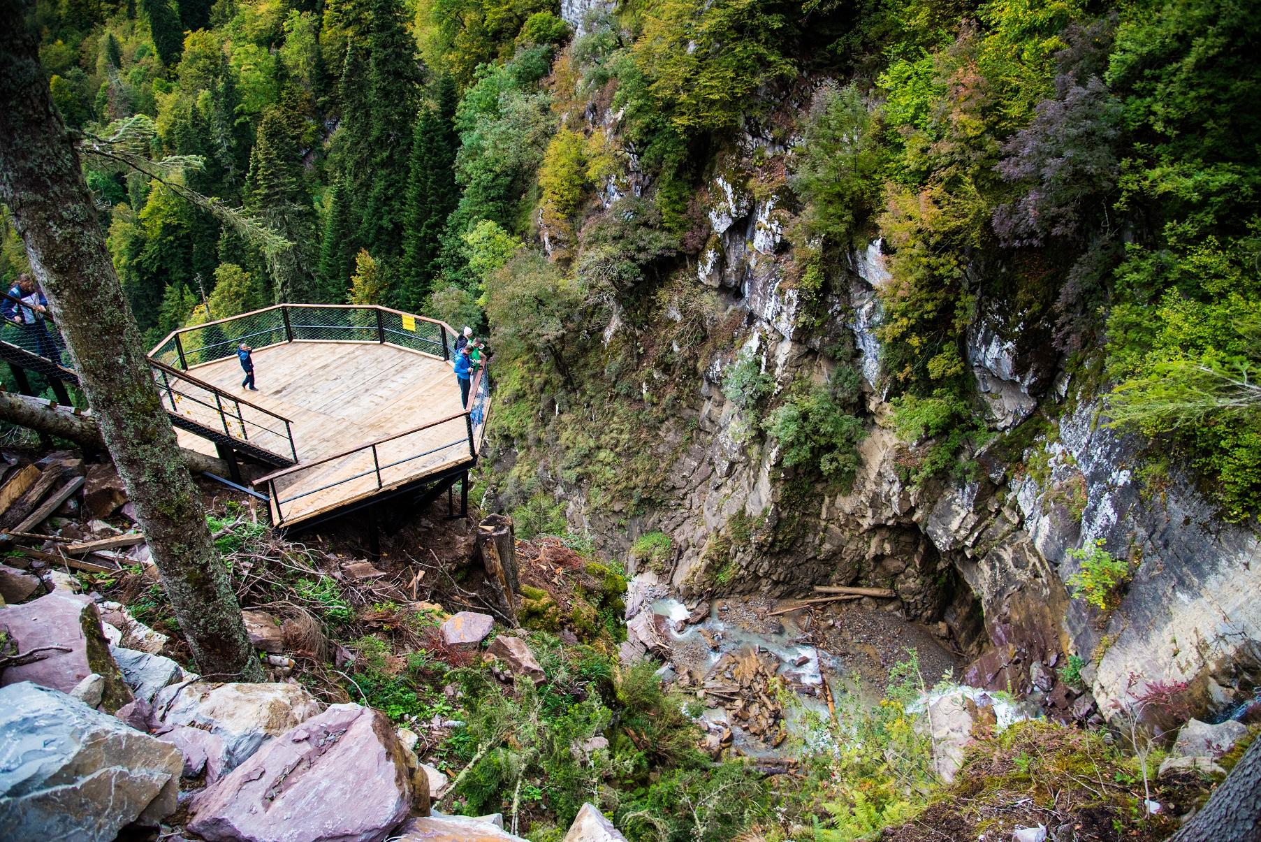 Водопады Менделиха смотровая площадка