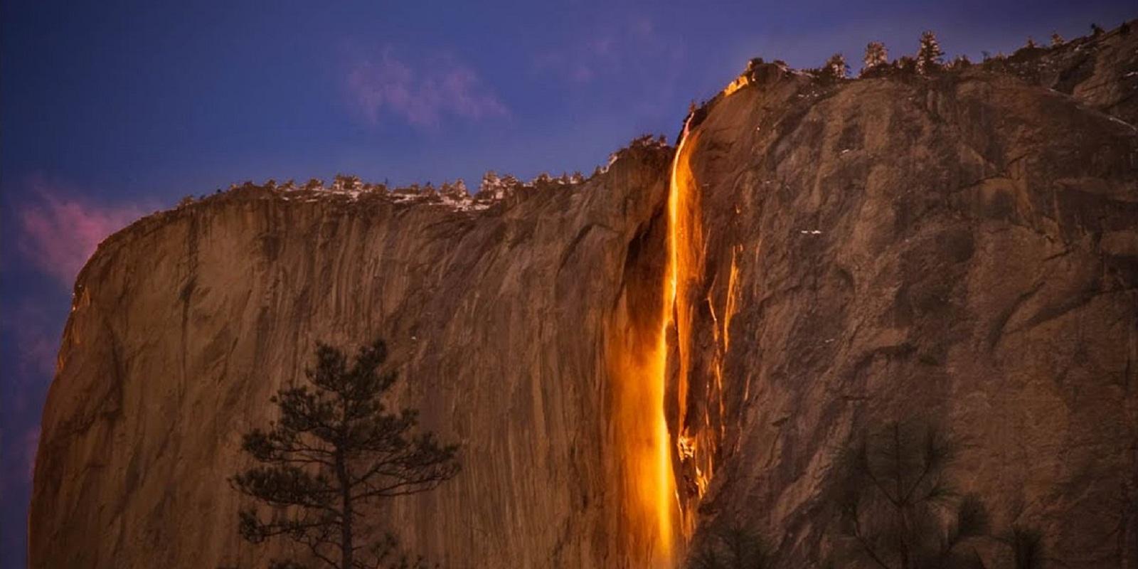 Огненный водопад в Калифорнии Хорстейл