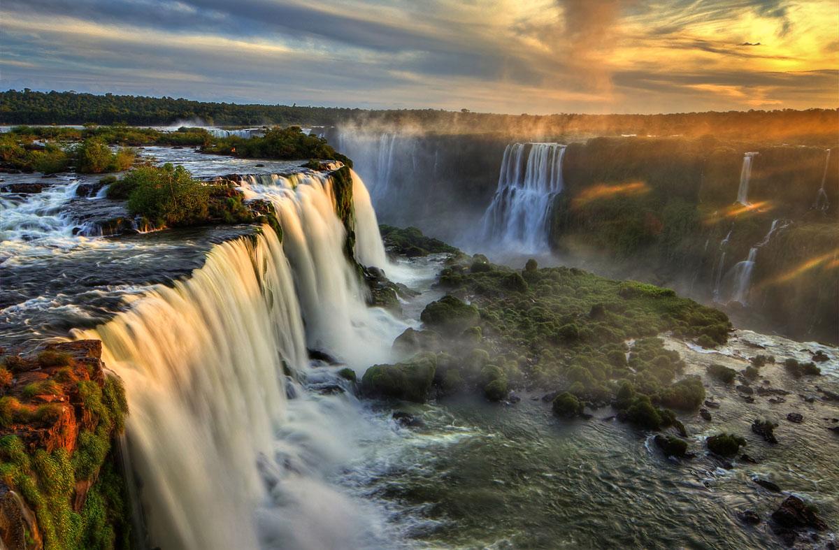 Водопады Игуасу закат