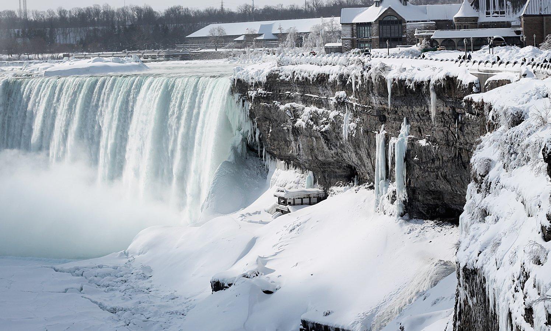 ниагарский водопад замерз вид