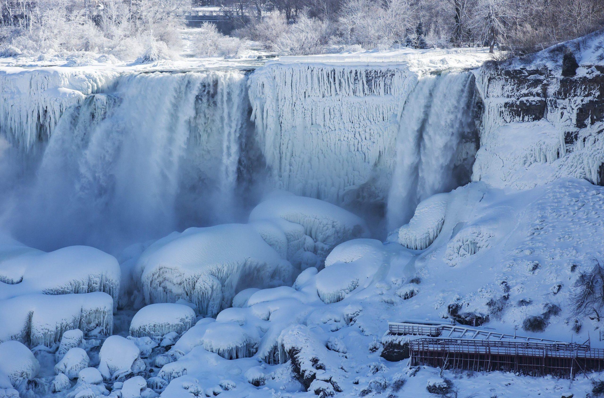 ниагарский водопад замерз зима