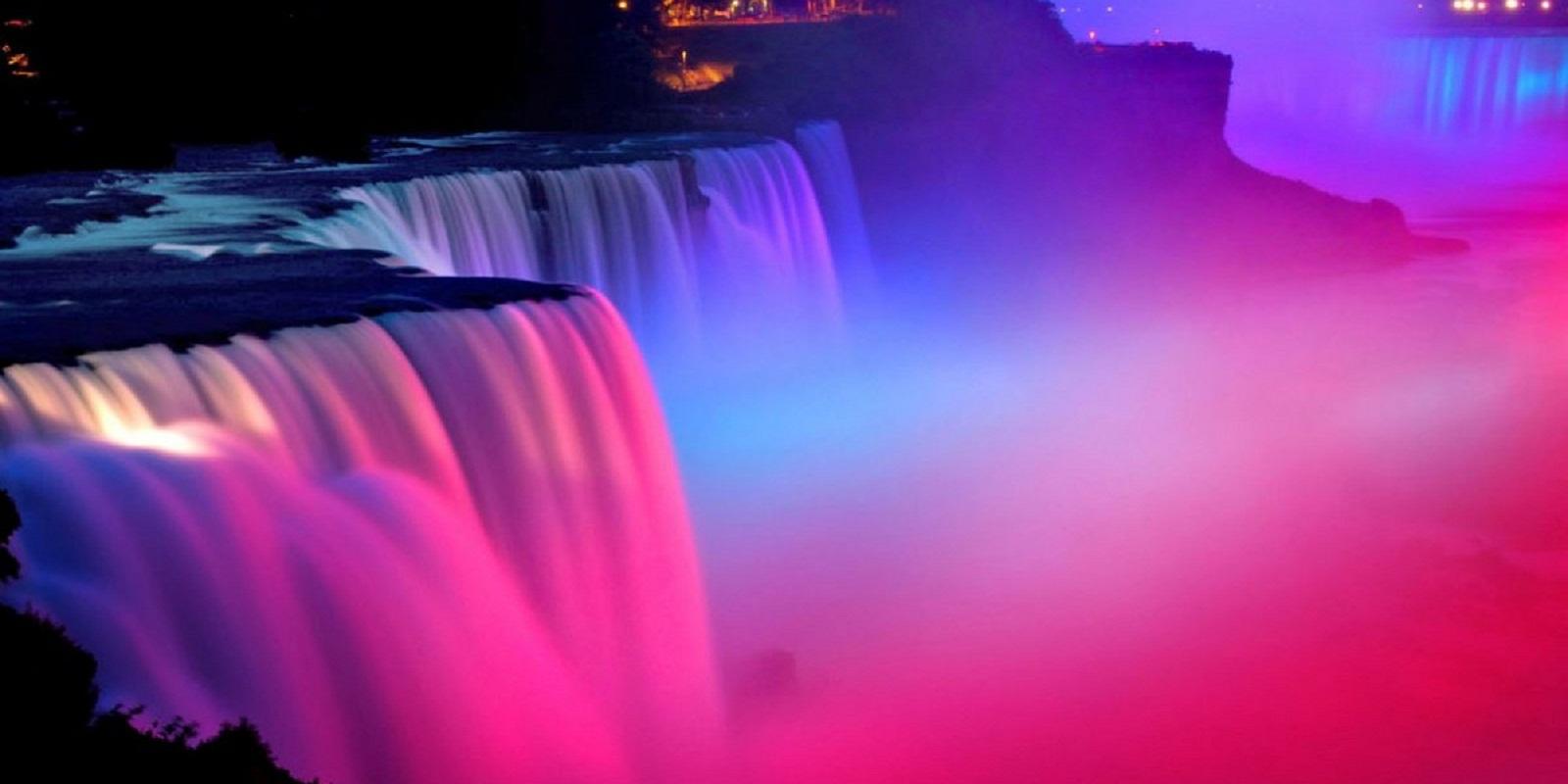 Ниагарский водопад розовый