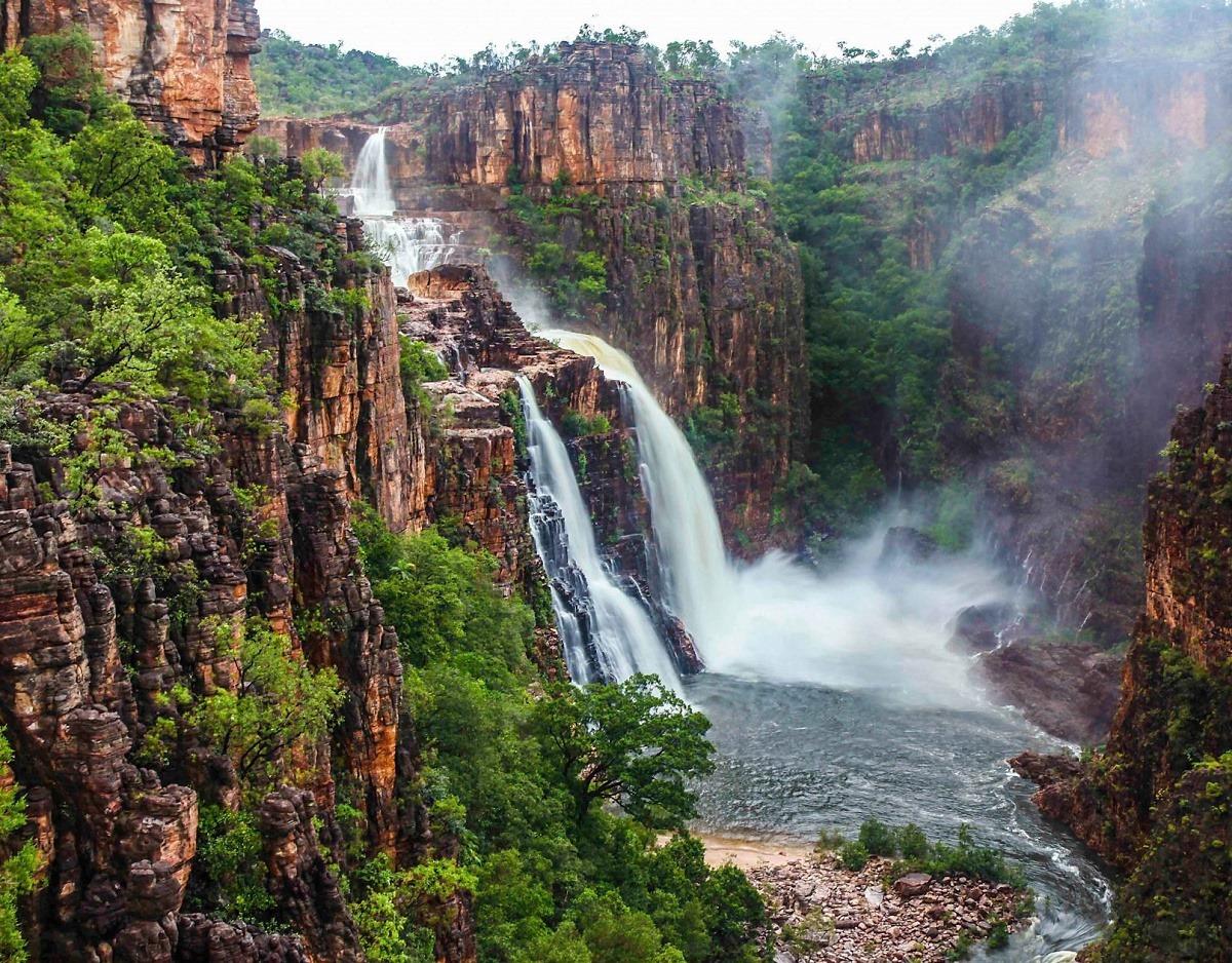 водопады в парке Какаду