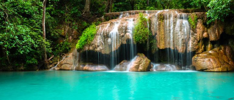 водопад эраван на реке квай