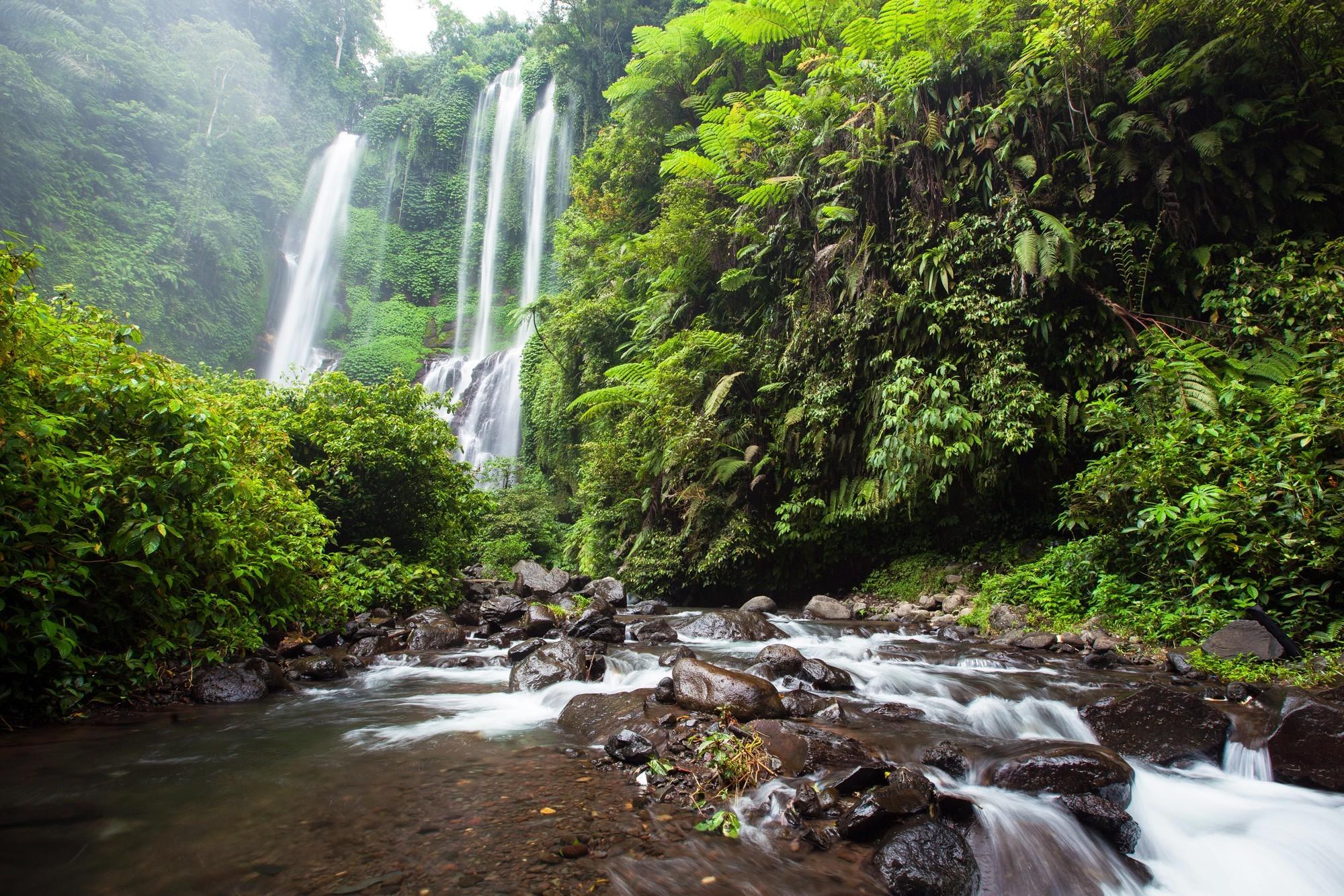 Водопад Секумпул река