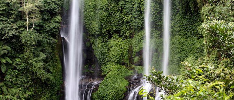 Каскады водопада Секумпул